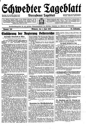 Schwedter Tageblatt vom 01.06.1938
