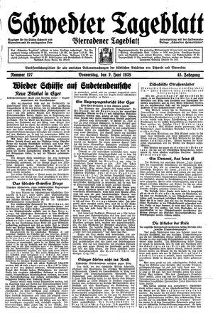 Schwedter Tageblatt vom 02.06.1938