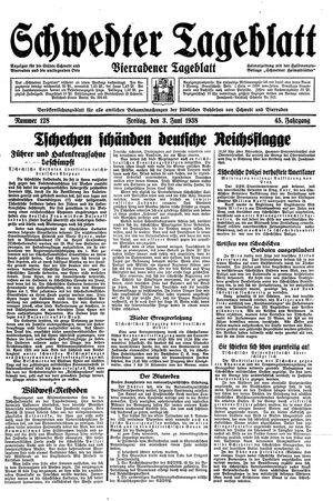 Schwedter Tageblatt vom 03.06.1938