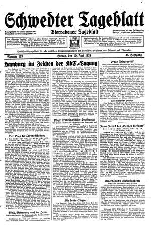 Schwedter Tageblatt vom 10.06.1938