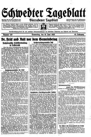 Schwedter Tageblatt vom 16.06.1938