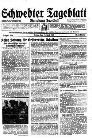 Schwedter Tageblatt vom 17.06.1938