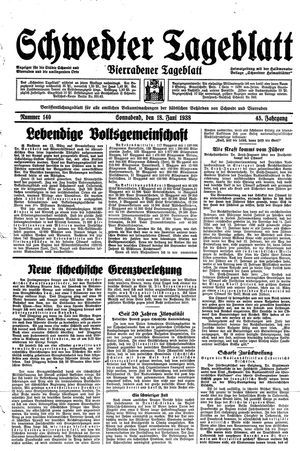 Schwedter Tageblatt vom 18.06.1938