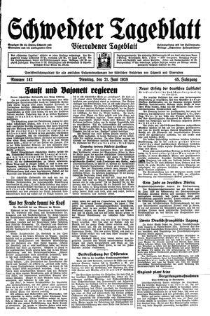 Schwedter Tageblatt vom 21.06.1938