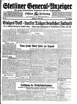 Stettiner General-Anzeiger vom 02.05.1937