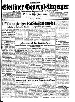 Stettiner General-Anzeiger vom 03.05.1937