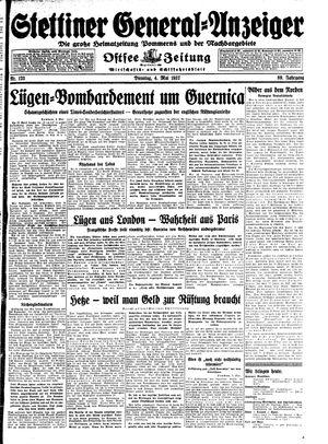 Stettiner General-Anzeiger vom 04.05.1937