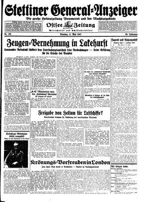 Stettiner General-Anzeiger vom 11.05.1937