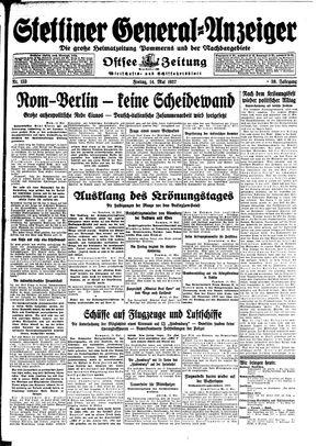 Stettiner General-Anzeiger vom 14.05.1937