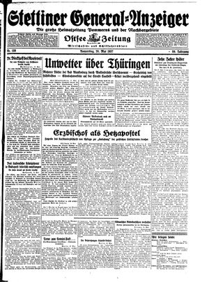 Stettiner General-Anzeiger on May 20, 1937