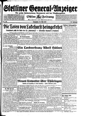 Stettiner General-Anzeiger vom 22.05.1937