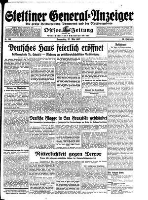 Stettiner General-Anzeiger vom 27.05.1937