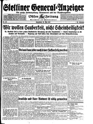 Stettiner General-Anzeiger vom 29.05.1937