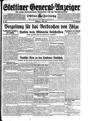 Stettiner General-Anzeiger on Jun 1, 1937
