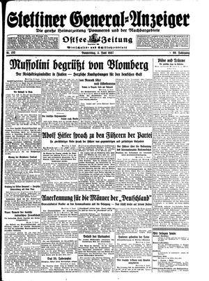 Stettiner General-Anzeiger vom 03.06.1937