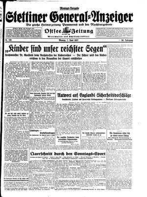 Stettiner General-Anzeiger vom 07.06.1937