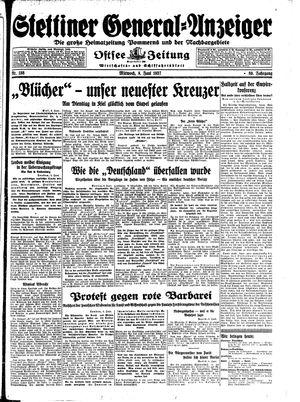 Stettiner General-Anzeiger vom 09.06.1937