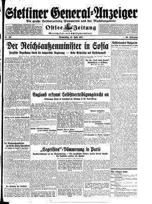 Stettiner General-Anzeiger on Jun 10, 1937