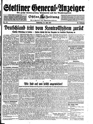Stettiner General-Anzeiger vom 24.06.1937