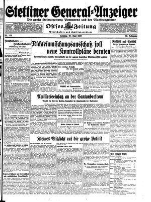 Stettiner General-Anzeiger vom 27.06.1937