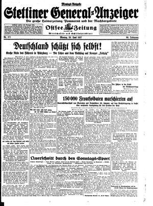 Stettiner General-Anzeiger vom 28.06.1937