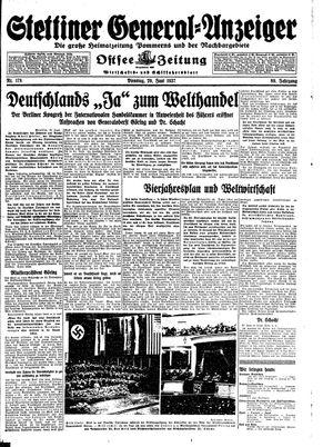 Stettiner General-Anzeiger vom 29.06.1937