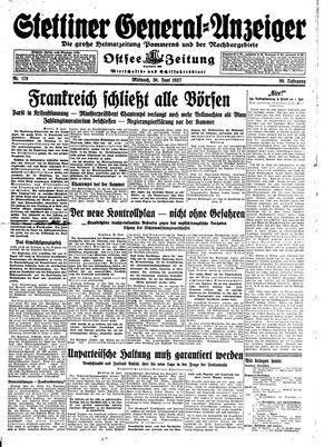 Stettiner General-Anzeiger vom 30.06.1937