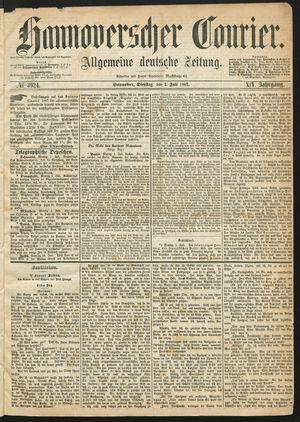 Hannoverscher Kurier vom 02.07.1867
