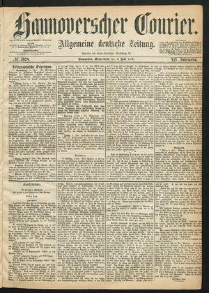 Hannoverscher Kurier on Jul 6, 1867