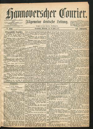Hannoverscher Kurier vom 10.07.1867