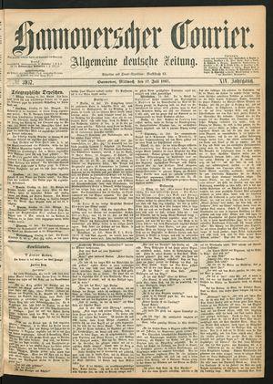 Hannoverscher Kurier vom 17.07.1867