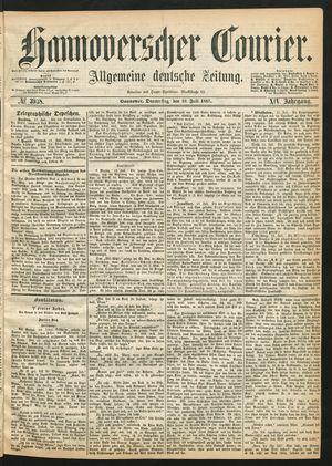 Hannoverscher Kurier on Jul 18, 1867