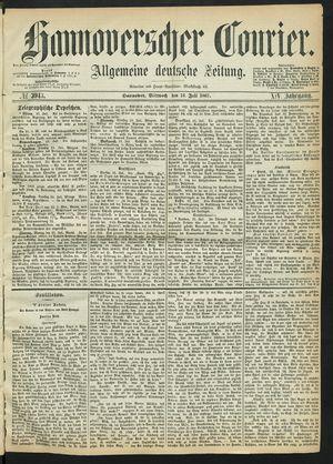 Hannoverscher Kurier on Jul 24, 1867