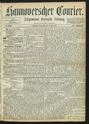 Hannoverscher Kurier vom 27.07.1867