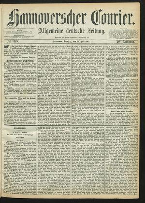 Hannoverscher Kurier vom 30.07.1867