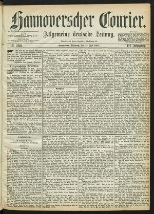 Hannoverscher Kurier on Jul 31, 1867