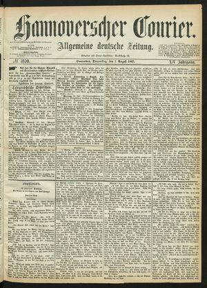 Hannoverscher Kurier vom 01.08.1867