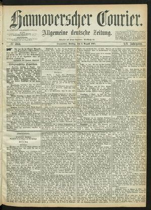 Hannoverscher Kurier vom 02.08.1867