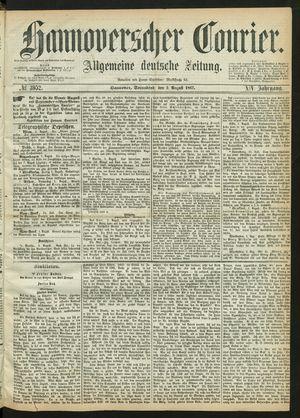 Hannoverscher Kurier vom 03.08.1867