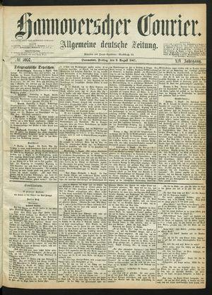Hannoverscher Kurier vom 09.08.1867
