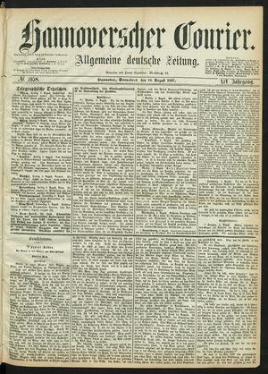 Hannoverscher Kurier vom 10.08.1867