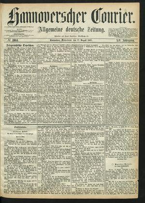 Hannoverscher Kurier vom 17.08.1867