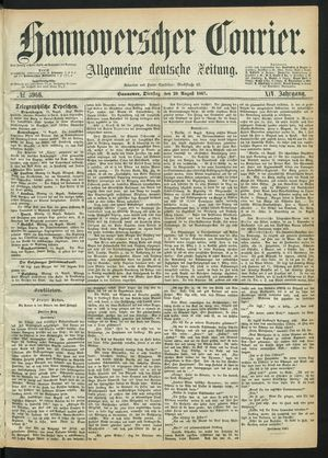 Hannoverscher Kurier vom 20.08.1867