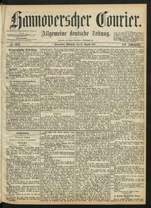 Hannoverscher Kurier on Aug 21, 1867
