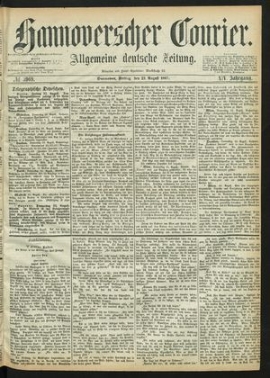 Hannoverscher Kurier vom 23.08.1867