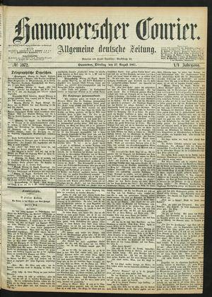 Hannoverscher Kurier vom 27.08.1867