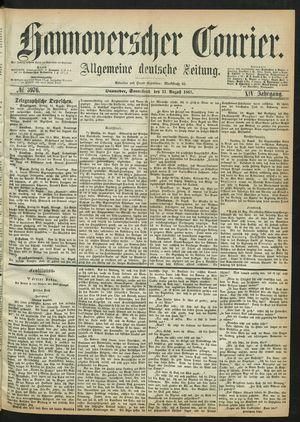 Hannoverscher Kurier on Aug 31, 1867