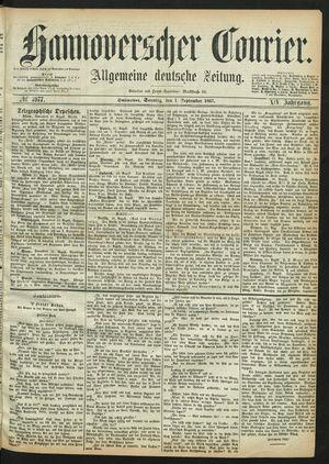 Hannoverscher Kurier vom 01.09.1867