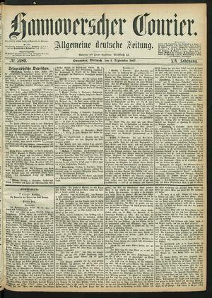 Hannoverscher Kurier vom 04.09.1867