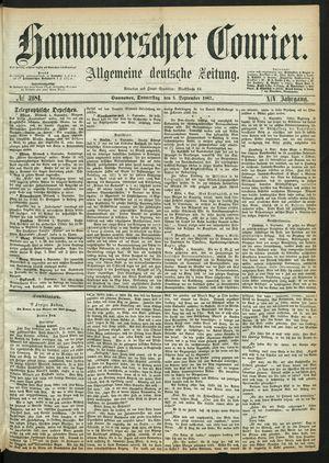 Hannoverscher Kurier vom 05.09.1867